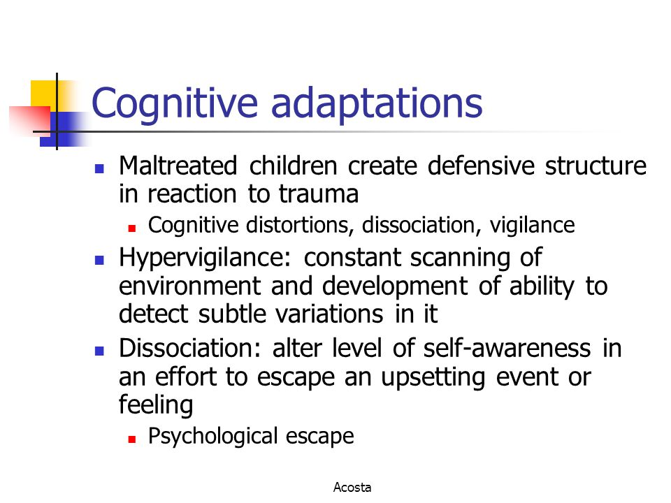 Cognitive adaptations