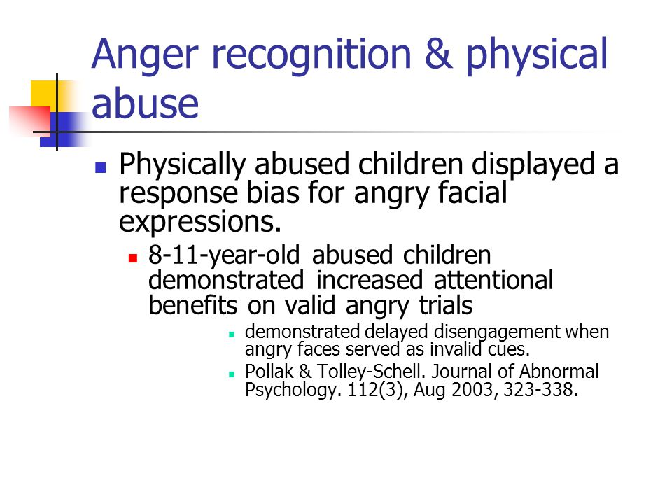 Anger recognition & physical abuse