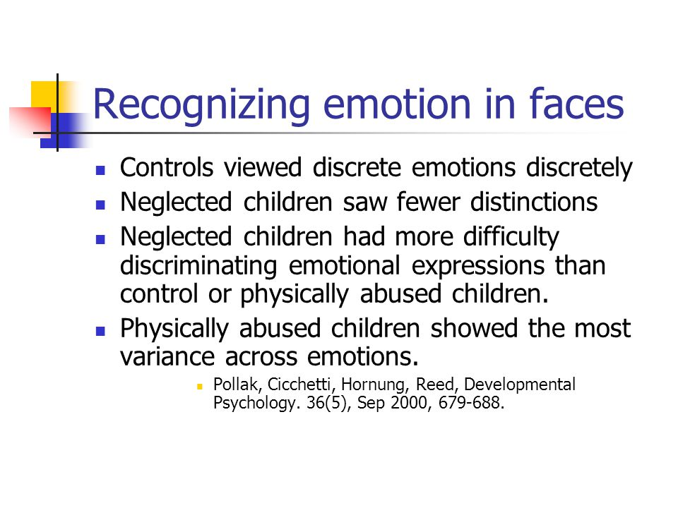 Recognizing emotion in faces