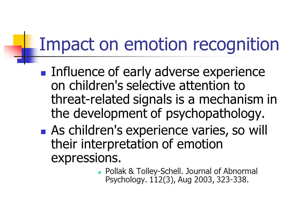 Impact on emotion recognition