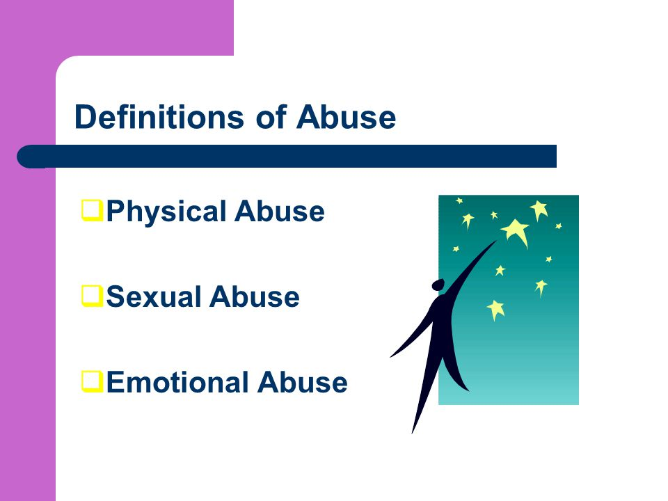 Definitions of Abuse Physical Abuse Sexual Abuse Emotional Abuse