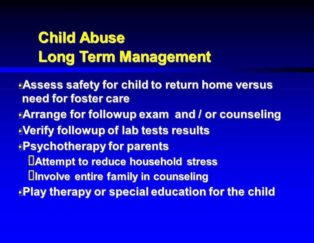 Child Abuse Long Term Management