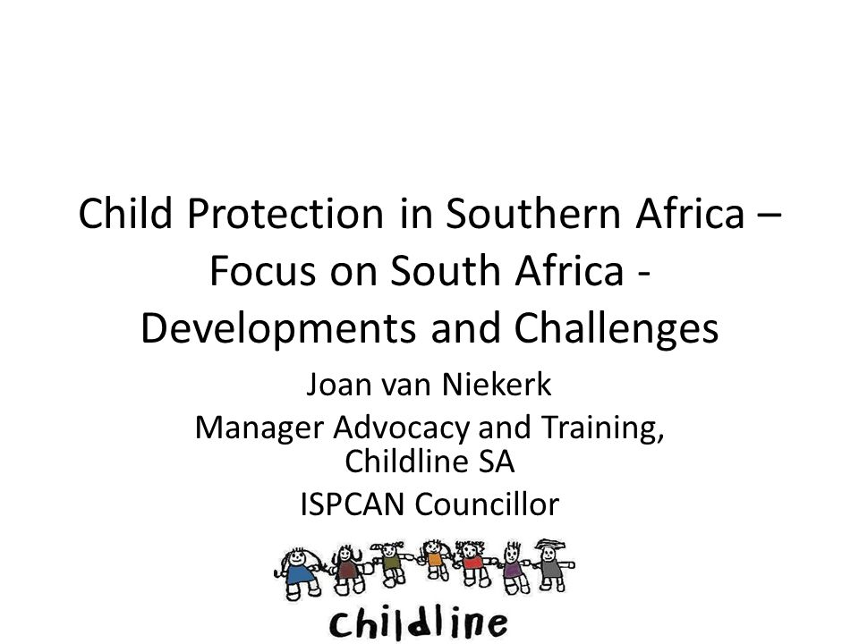 Manager Advocacy and Training, Childline SA