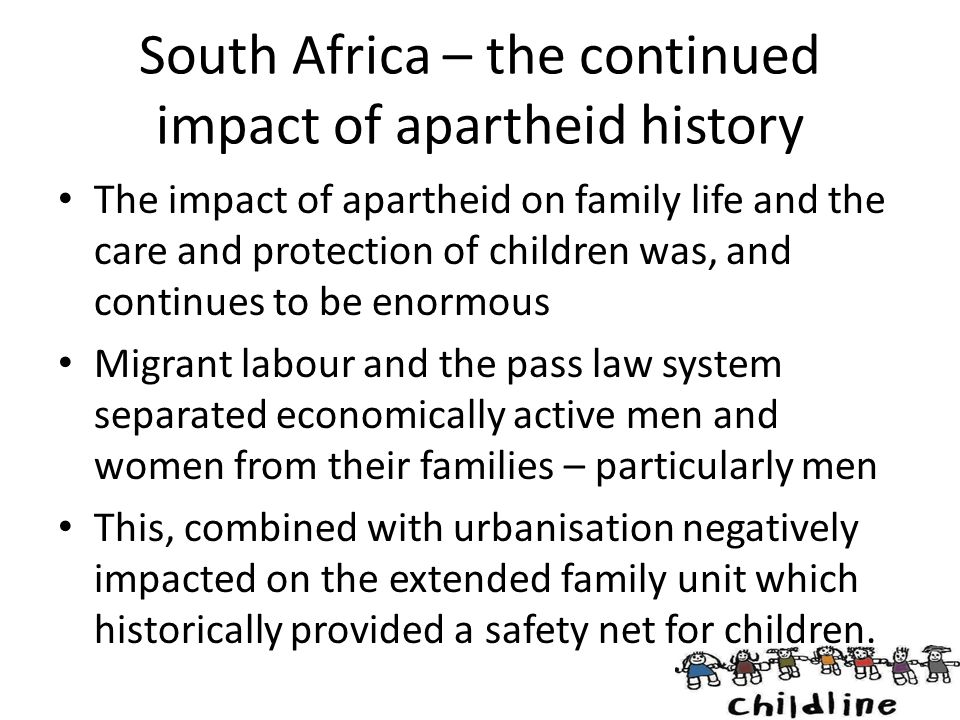 South Africa – the continued impact of apartheid history
