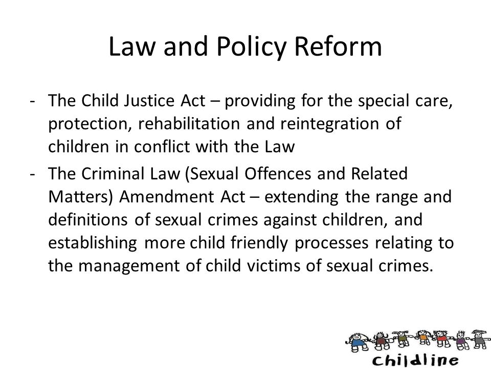 Law and Policy Reform