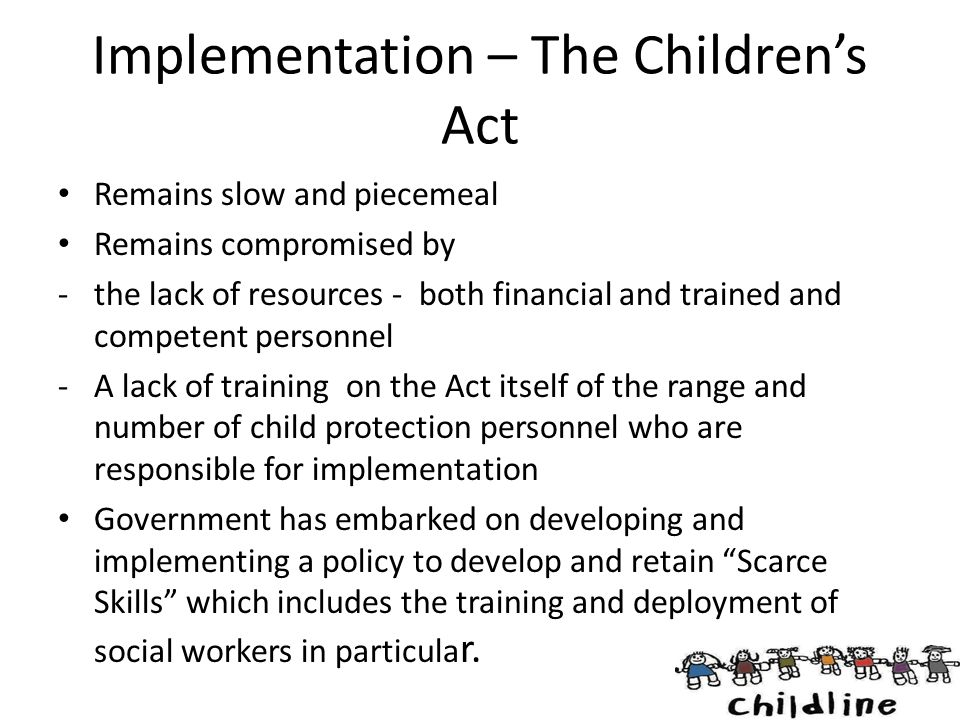 Implementation – The Children's Act