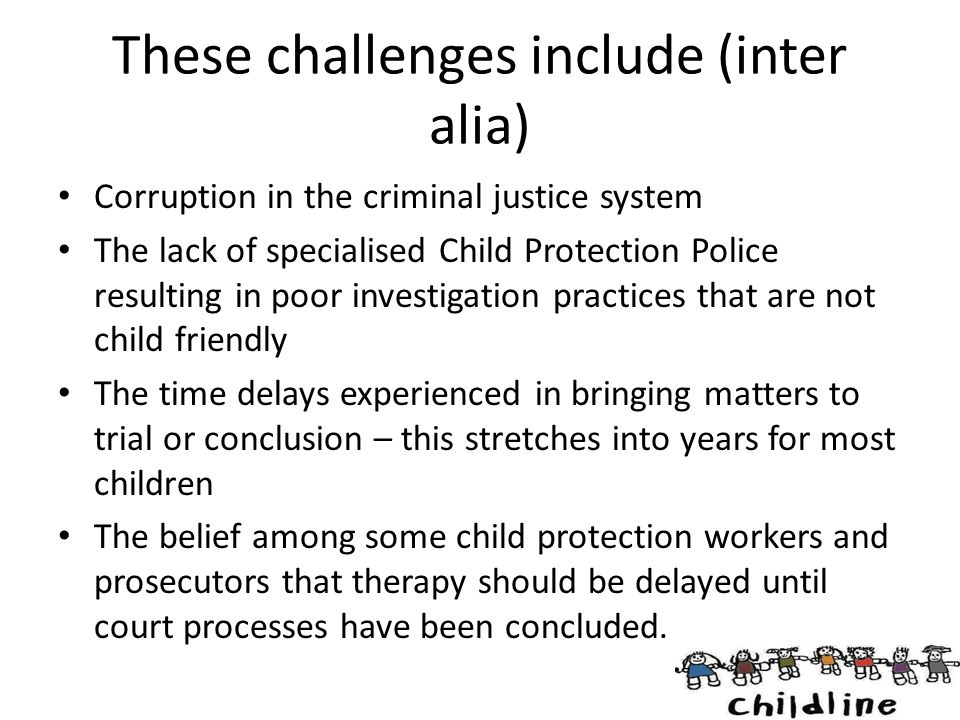 These challenges include (inter alia)
