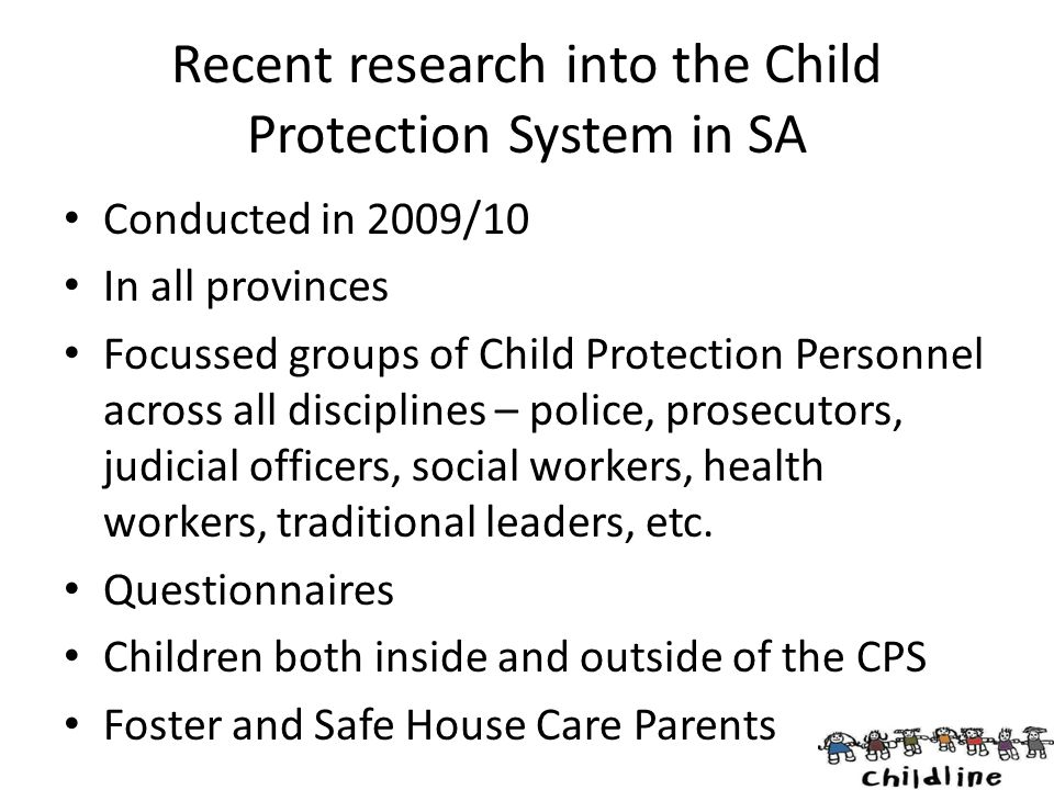 Recent research into the Child Protection System in SA