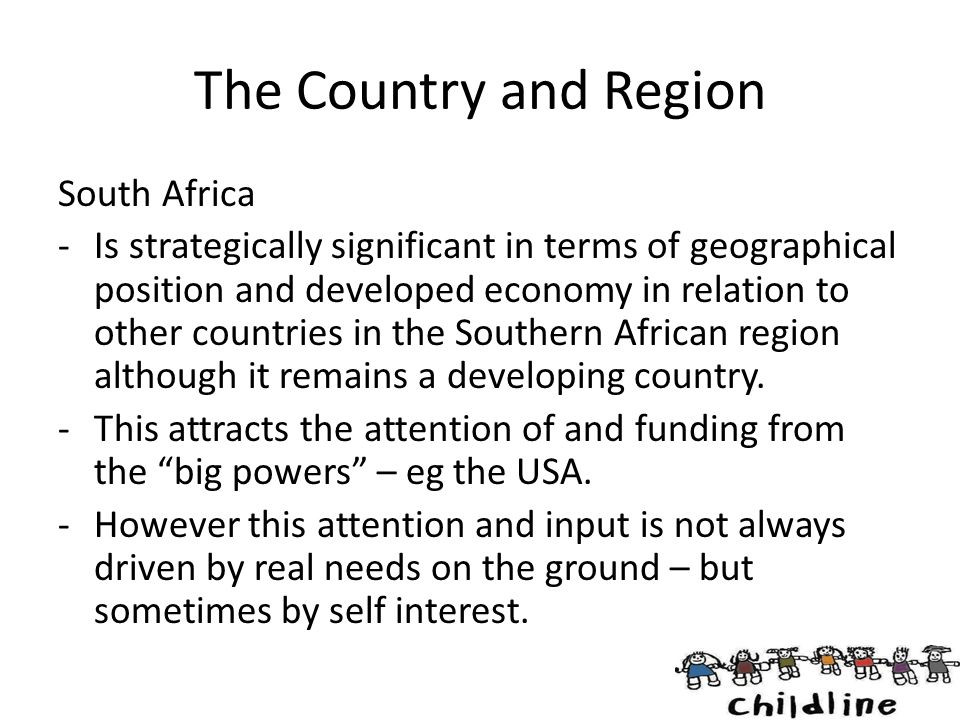 The Country and Region South Africa