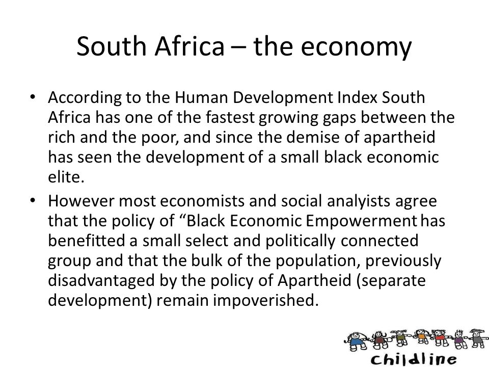 South Africa – the economy