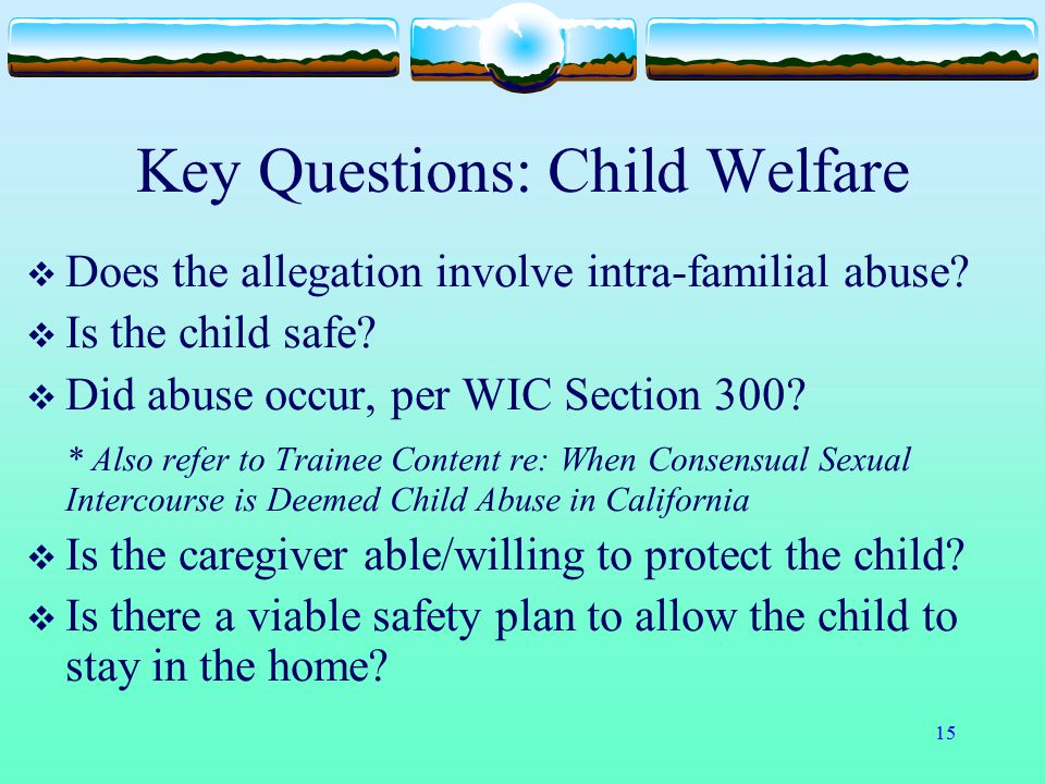 Key Questions: Child Welfare