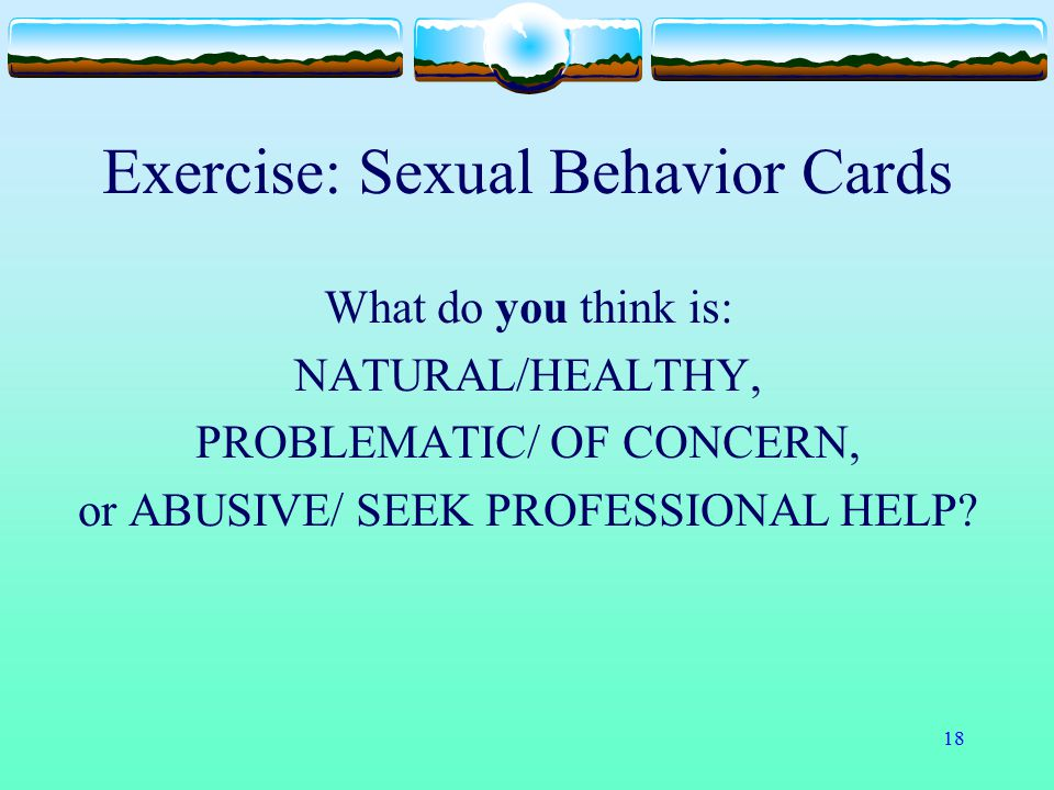 Exercise: Sexual Behavior Cards