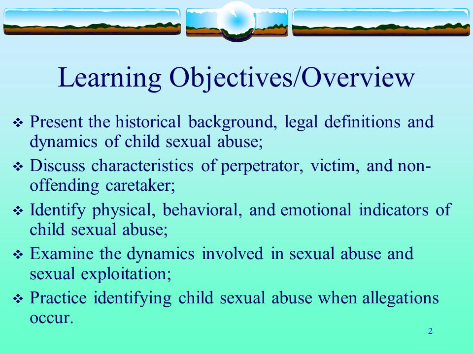 Learning Objectives/Overview