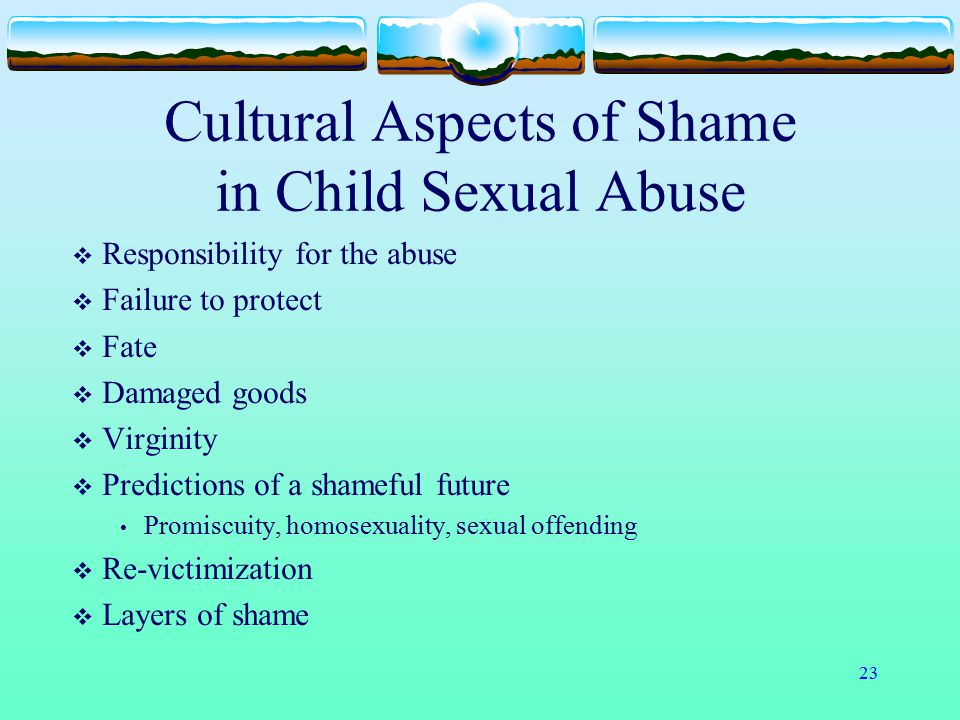 Cultural Aspects of Shame in Child Sexual Abuse