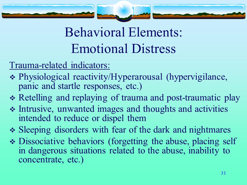Behavioral Elements: Emotional Distress