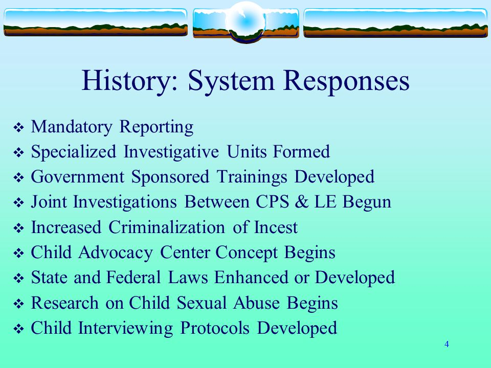 History: System Responses