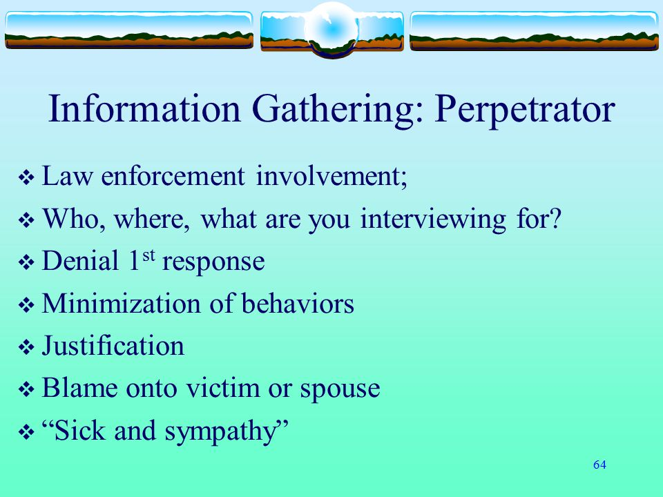 Information Gathering: Perpetrator