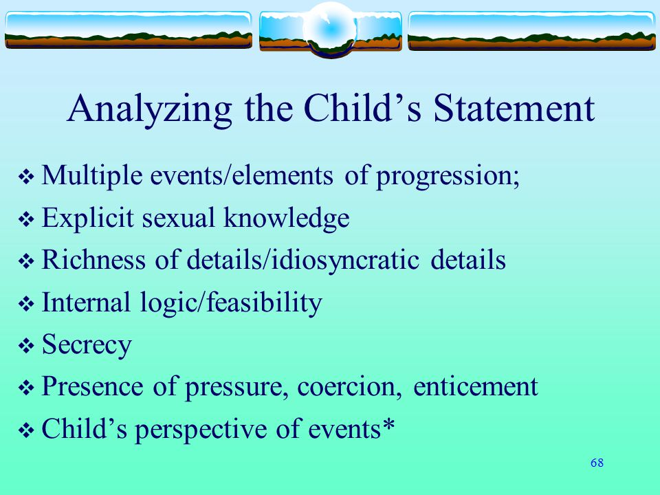 Analyzing the Child's Statement