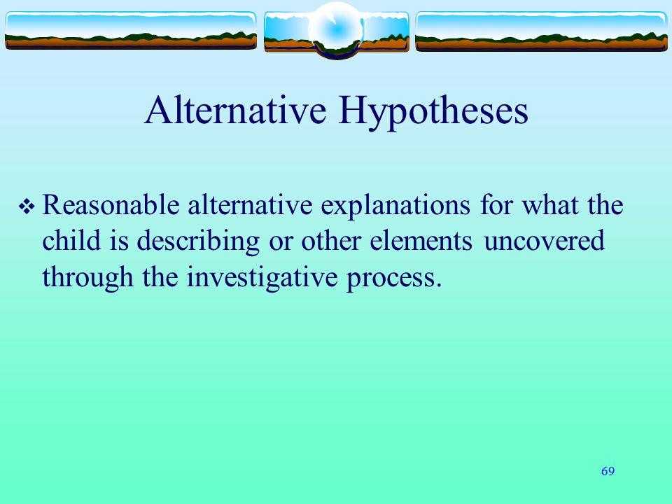 Alternative Hypotheses