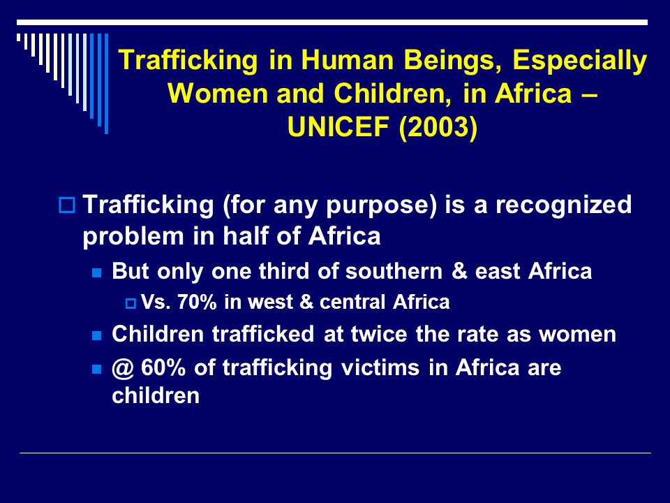 Trafficking in Human Beings, Especially Women and Children, in Africa – UNICEF (2003)