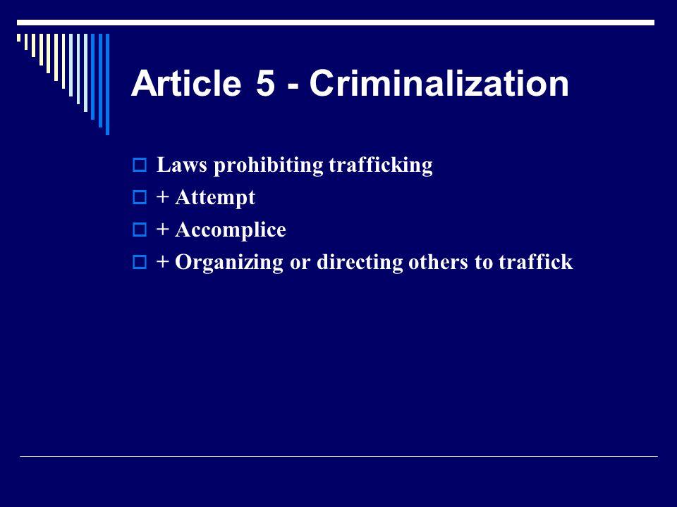 Article 5 - Criminalization
