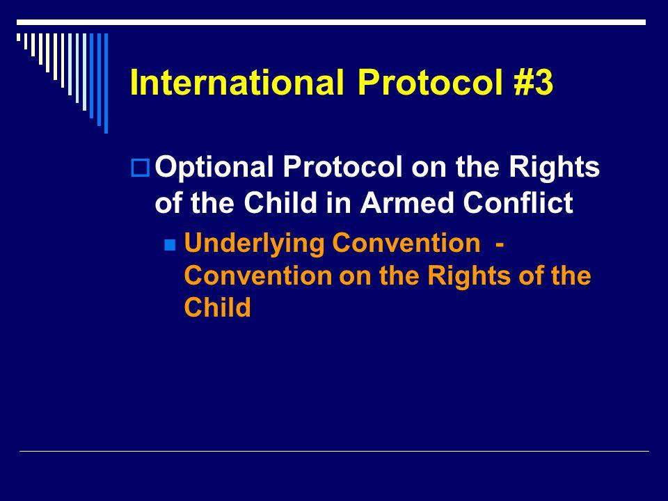 International Protocol #3