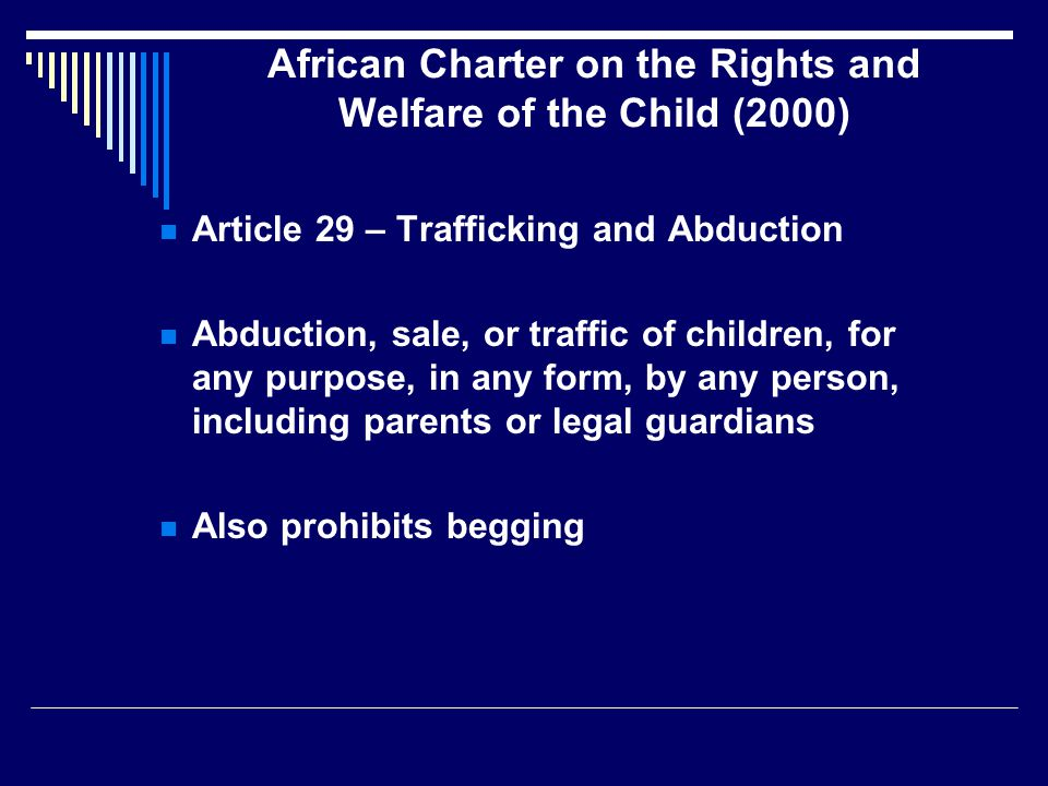 African Charter on the Rights and Welfare of the Child (2000)