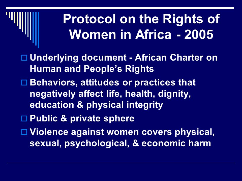 Protocol on the Rights of Women in Africa - 2005