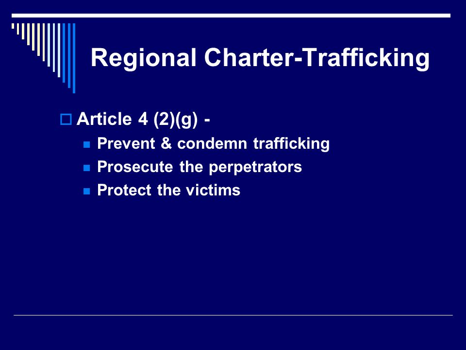 Regional Charter-Trafficking