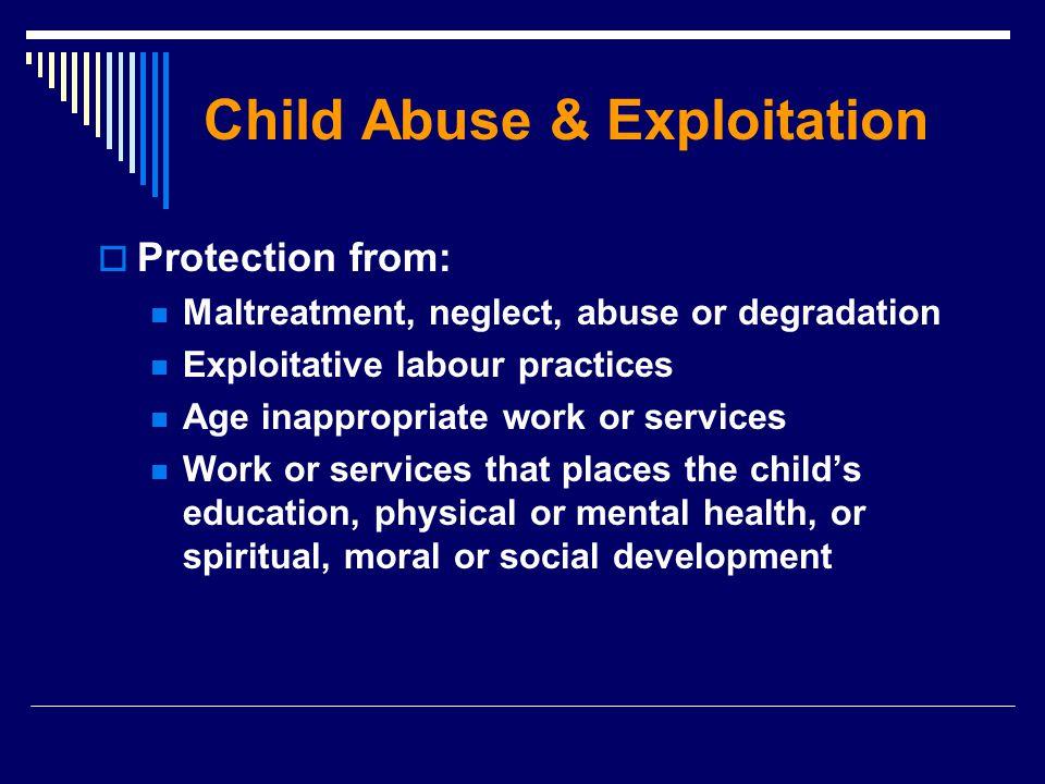 Child Abuse & Exploitation