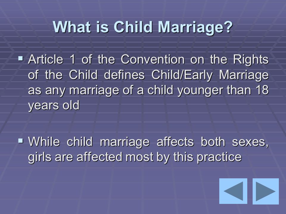 What is Child Marriage