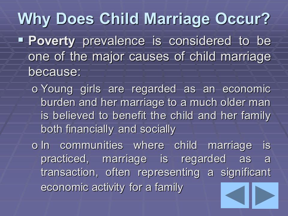Why Does Child Marriage Occur