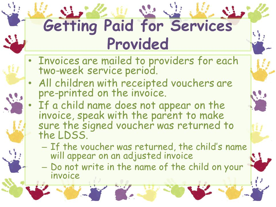 Getting Paid for Services Provided