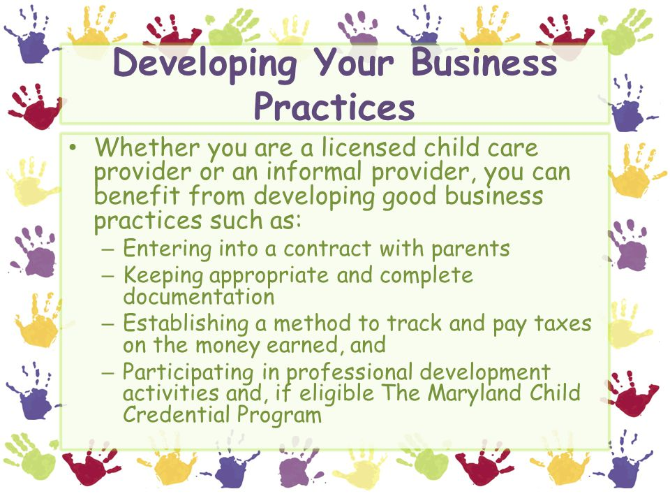 Developing Your Business Practices