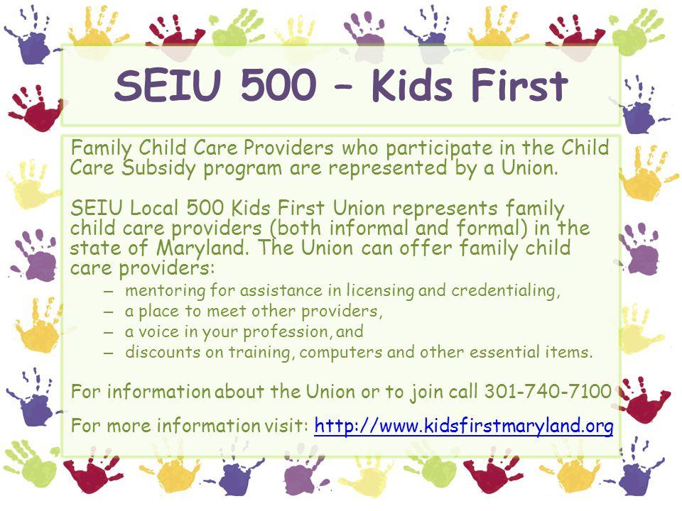 SEIU 500 – Kids First