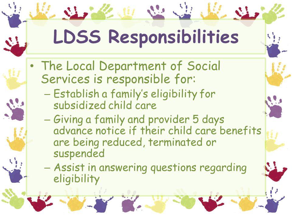 LDSS Responsibilities