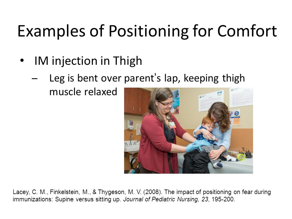 Examples of Positioning for Comfort