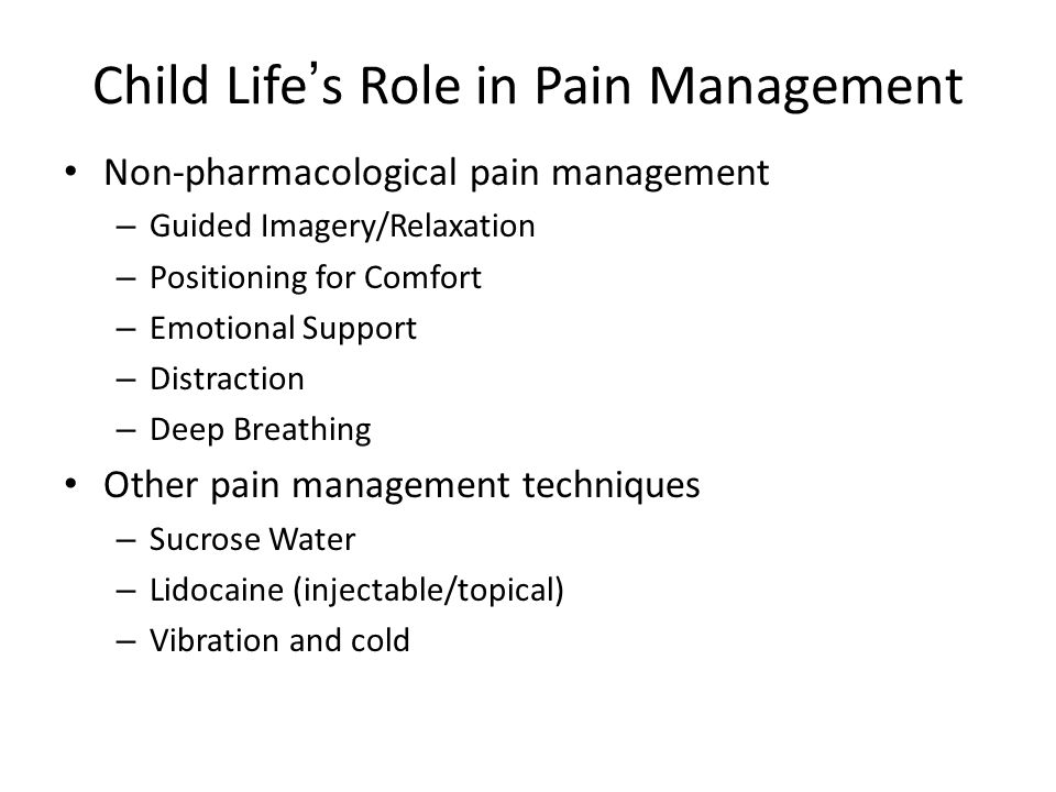 Child Life's Role in Pain Management