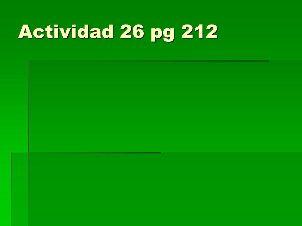 Actividad 26 pg 212