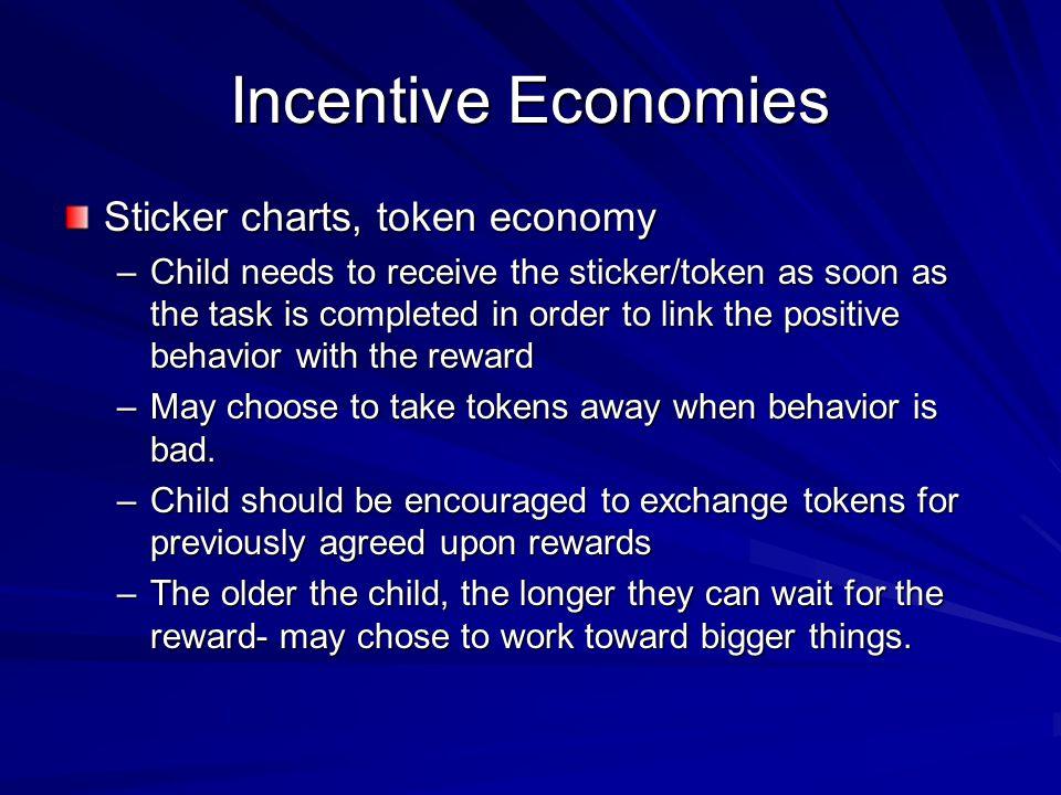 Incentive Economies Sticker charts, token economy