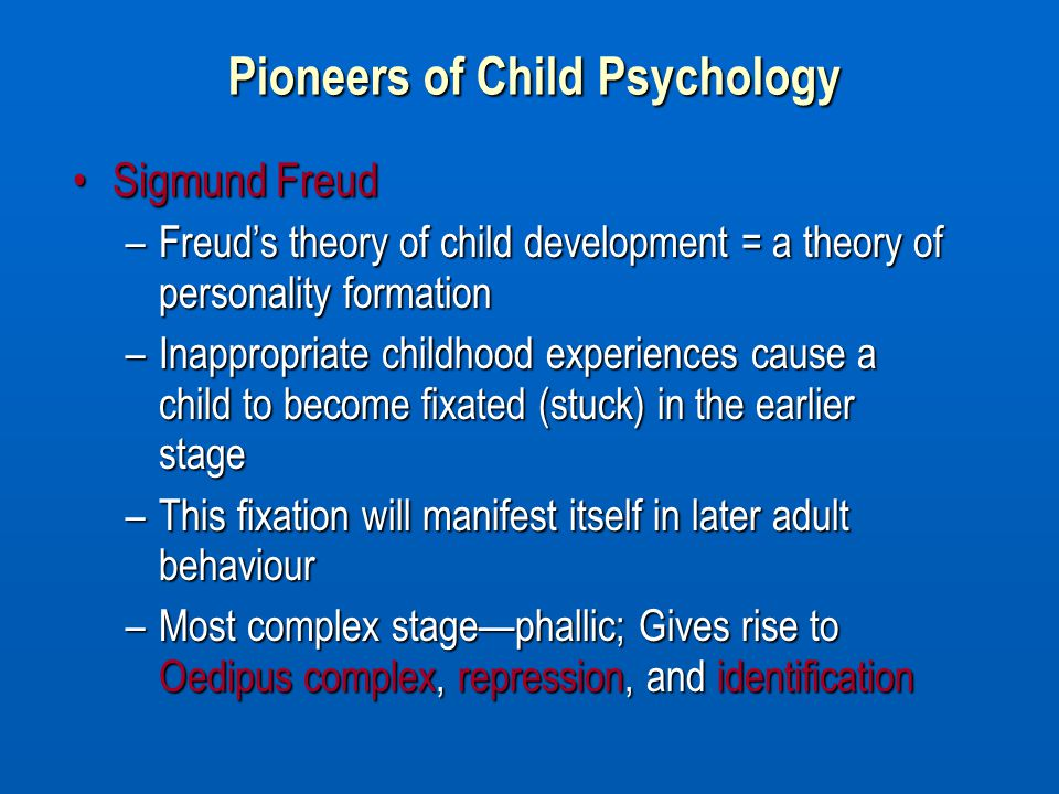 an analysis of sigmund freuds theory about the development of personality In analysis of a phobia in a five  sigmund freud's psychosexual development  contemporary criticism also questions the universality of the freudian theory of.