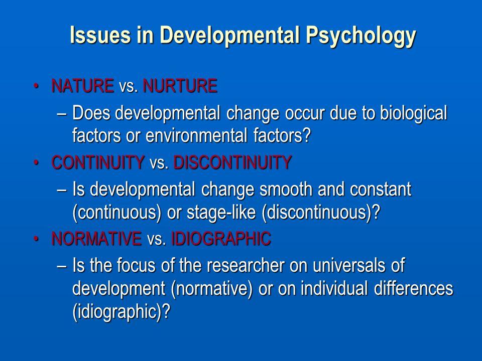Issues in Developmental Psychology