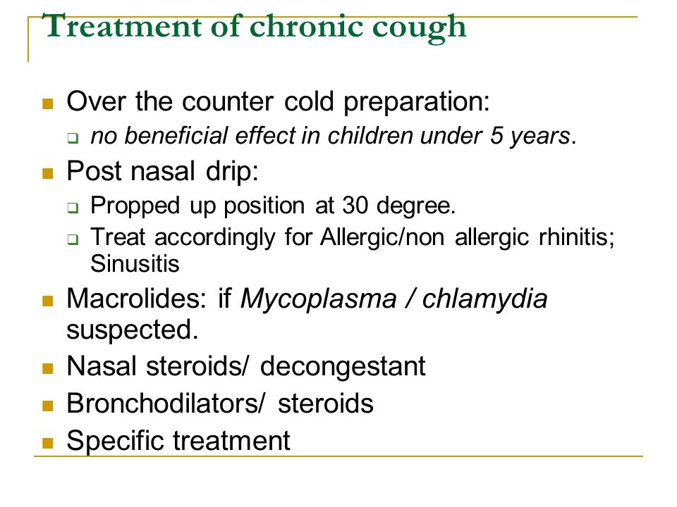 Treatment of chronic cough