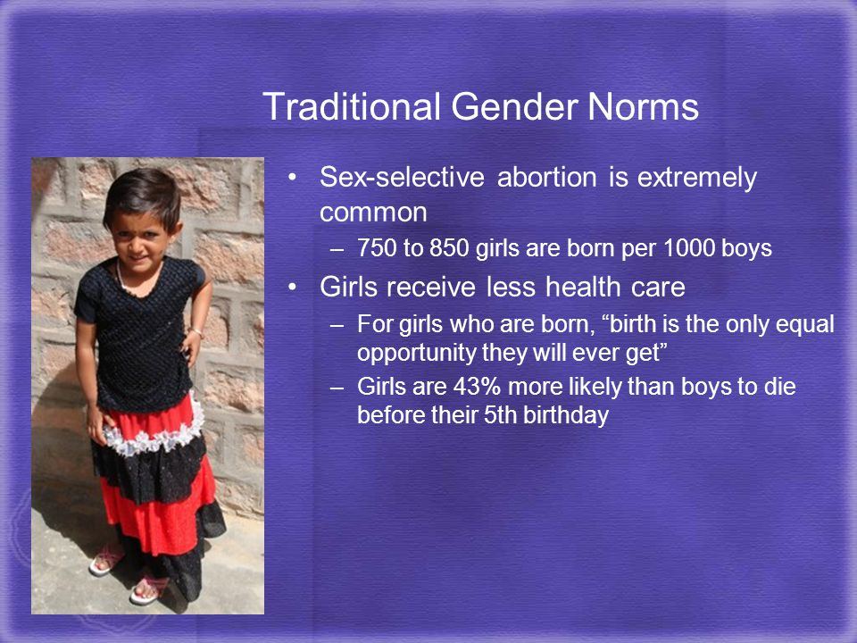 Traditional Gender Norms