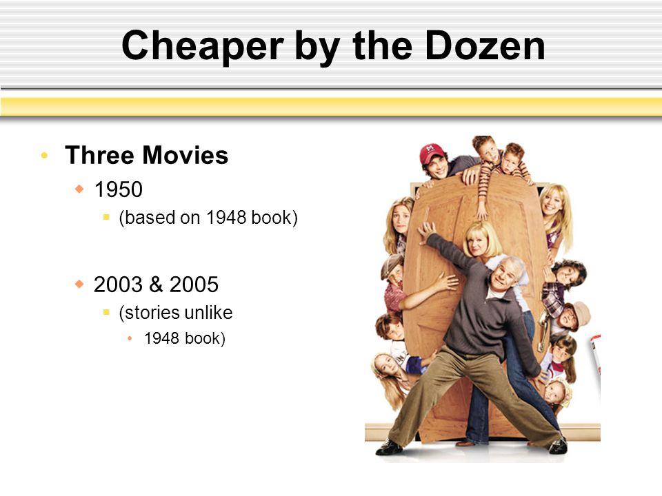 Cheaper by the Dozen Three Movies 1950 2003 & 2005