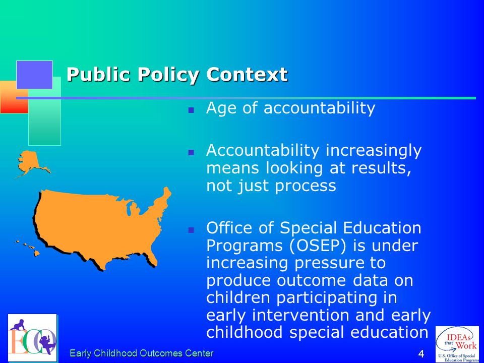 Public Policy Context Age of accountability
