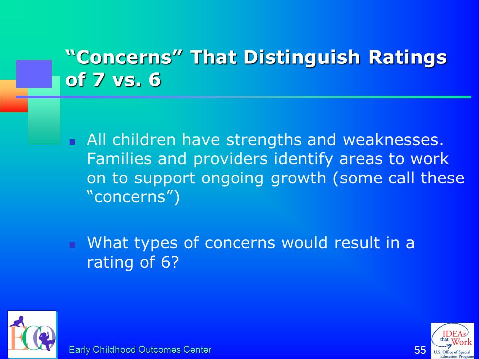 Concerns That Distinguish Ratings of 7 vs. 6