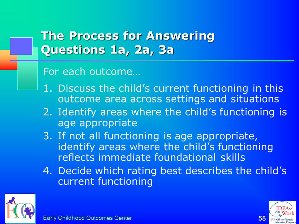The Process for Answering Questions 1a, 2a, 3a