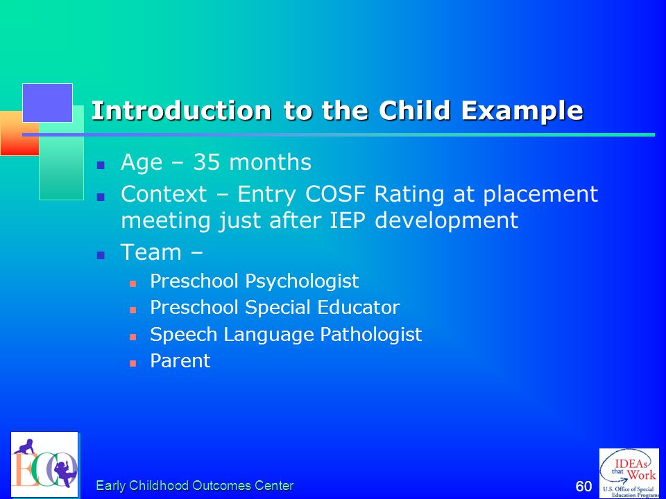 Introduction to the Child Example