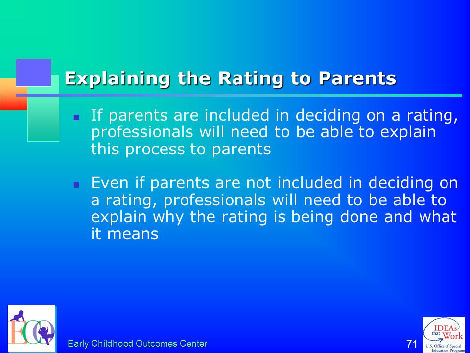 Explaining the Rating to Parents